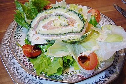 Lachsrolle mit Spinat und Frischkäse 118