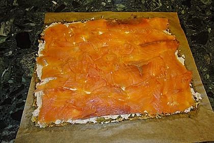 Lachsrolle mit Spinat und Frischkäse 96
