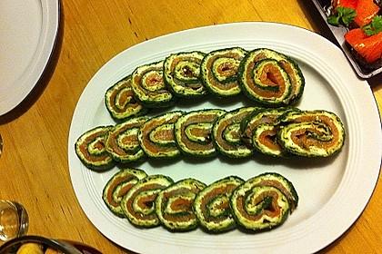 Lachsrolle mit Spinat und Frischkäse 134