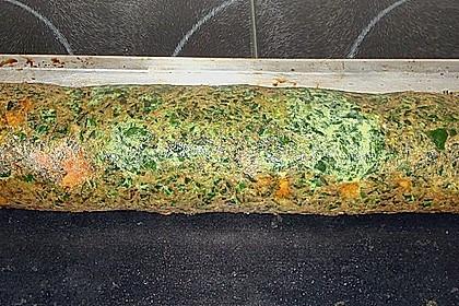 Lachsrolle mit Spinat und Frischkäse 121