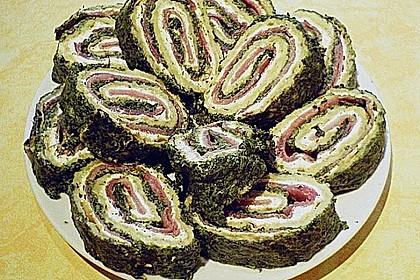 Lachsrolle mit Spinat und Frischkäse 110