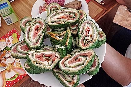 Lachsrolle mit Spinat und Frischkäse 124