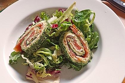 Lachsrolle mit Spinat und Frischkäse 35