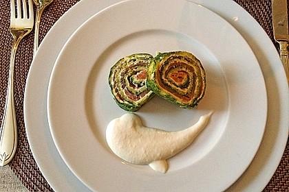 Lachsrolle mit Spinat und Frischkäse 5
