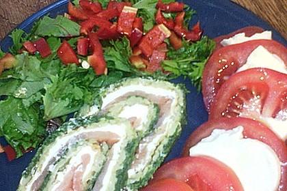 Lachsrolle mit Spinat und Frischkäse 107