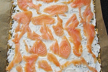 Lachsrolle mit Spinat und Frischkäse 135