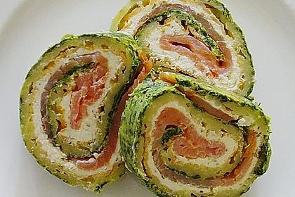 Lachsrolle mit Spinat und Frischkäse 56