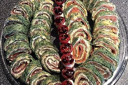 Lachsrolle mit Spinat und Frischkäse 32