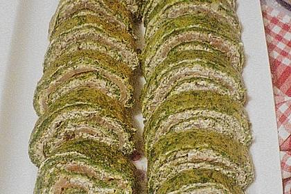 Lachsrolle mit Spinat und Frischkäse 155