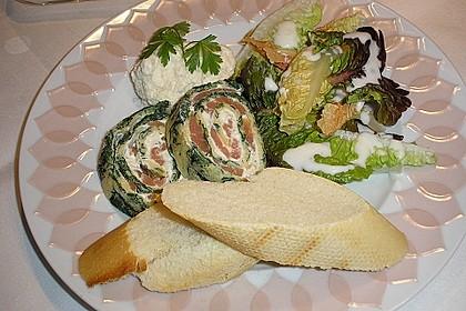 Lachsrolle mit Spinat und Frischkäse 47