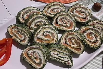 Lachsrolle mit Spinat und Frischkäse 108