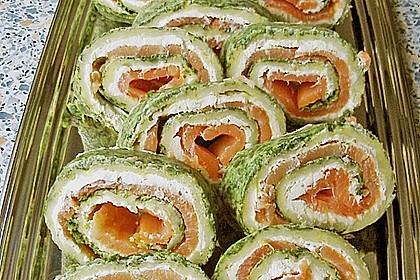 Lachsrolle mit Spinat und Frischkäse 126