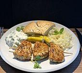 Griechische Fleischspieße (Bild)