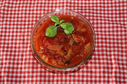 Tomaten-Honigmelonen-Sauce (Bild)