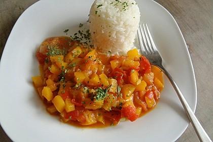 Paprika - Tomaten - Pfanne
