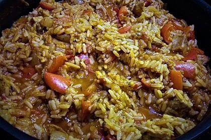 Serbisches Reisfleisch 14