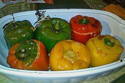 Paprikaschoten gefüllt mit Sauerkraut 1