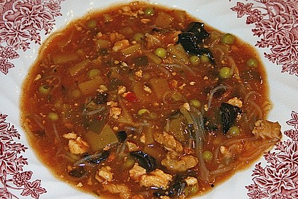 Chinesische Pekingsuppe süß - sauer à la Judith