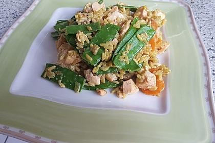 Bunte Reis - Fisch - Pfanne 4