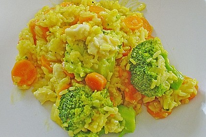 Bunte Reis - Fisch - Pfanne 7