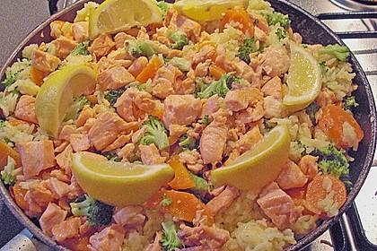 Bunte Reis - Fisch - Pfanne 13