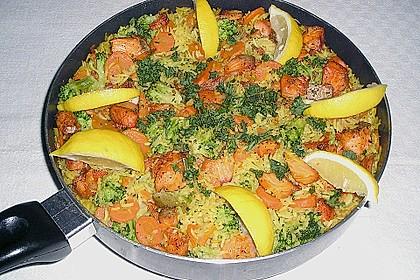Bunte Reis - Fisch - Pfanne 8