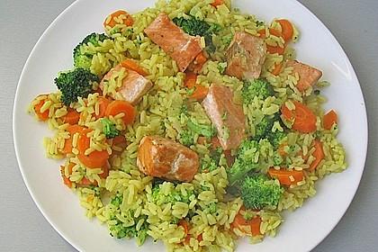 Bunte Reis - Fisch - Pfanne 1