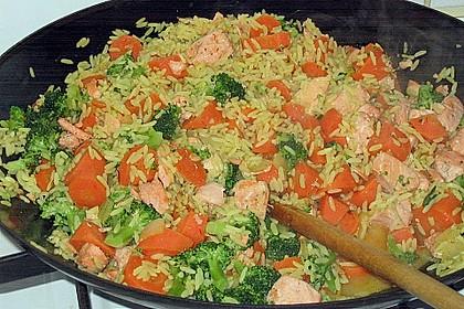Bunte Reis - Fisch - Pfanne 14