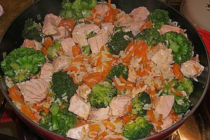 Bunte Reis - Fisch - Pfanne 12