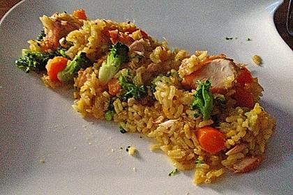 Bunte Reis - Fisch - Pfanne 10