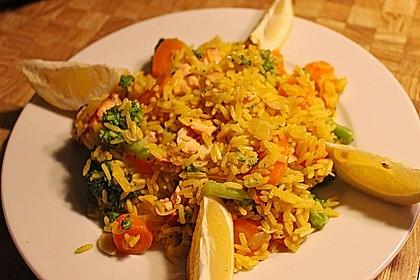 Bunte Reis - Fisch - Pfanne 5