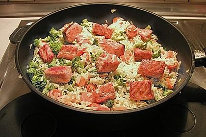 Bunte Reis - Fisch - Pfanne 6