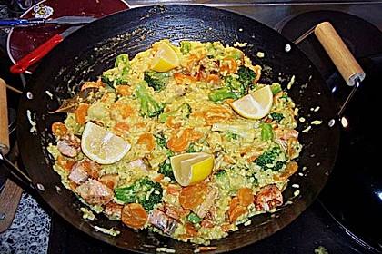 Bunte Reis - Fisch - Pfanne 16