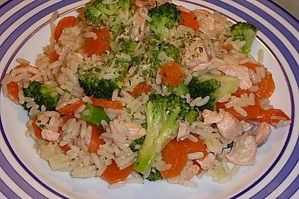 Bunte Reis - Fisch - Pfanne 3