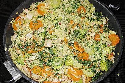 Bunte Reis - Fisch - Pfanne 17