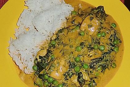 Hähnchenpfanne Indische Art