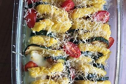 Polenta - Zucchini - Gratin (Bild)