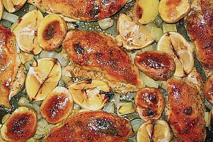 Geschmortes Zitronenhähnchen (Bild)