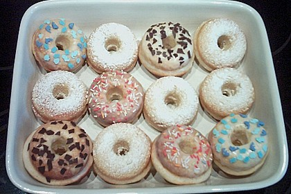 Donuts aus Quark - Öl - Teig für die Backform 10