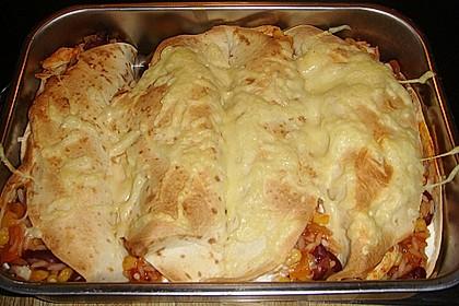Mexikanischer Burritoauflauf 12