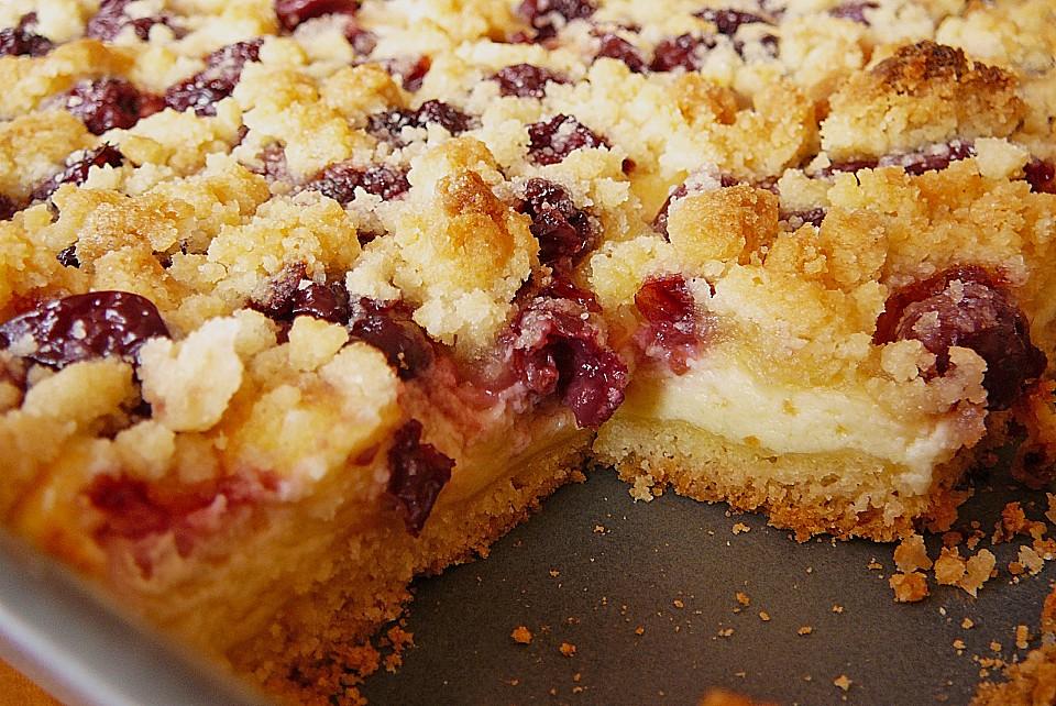 Blech Kirsch Kase Kuchen Mit Streuseln Von Aurora7528