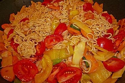 Shrimps - Gemüse - Mie Nudel - Wok, süß- scharf 2