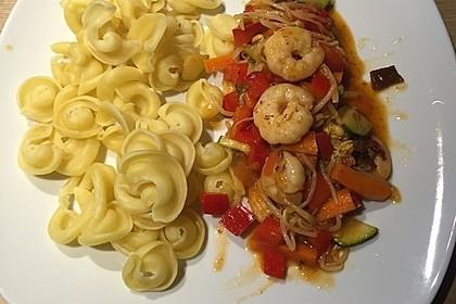 Shrimps - Gemüse - Mie Nudel - Wok, süß- scharf 3