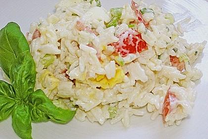 Reissalat mit Eiern, Tomaten und Lauch 1