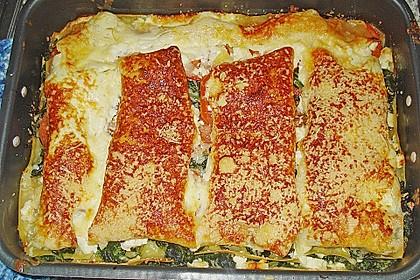 Spinat - Feta - Lasagne 4