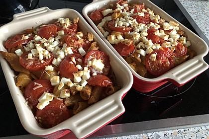 Auflauf mit Oliven, Tomaten, Pesto und Feta-Käse 1