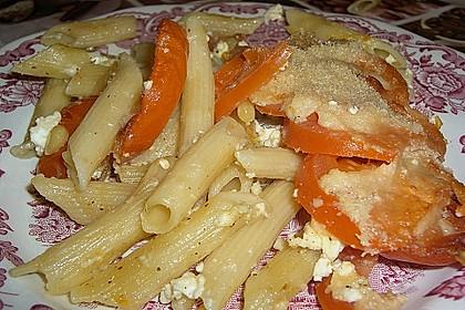 Auflauf mit Oliven, Tomaten, Pesto und Feta-Käse 9