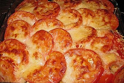 Auflauf mit Oliven, Tomaten, Pesto und Feta-Käse 2
