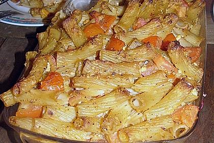 Auflauf mit Oliven, Tomaten, Pesto und Feta-Käse 8