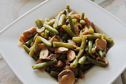 Bohnen - Champignongemüse 2